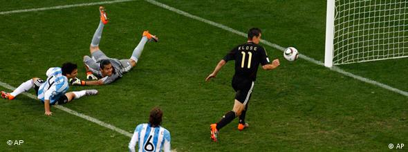 Miroslav Klose scores Germany's second