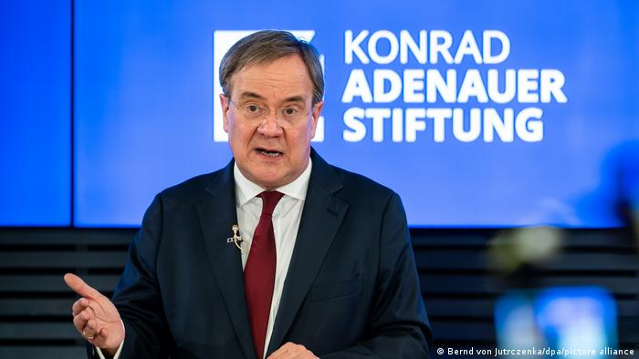 Armin Laschet speaks about Germany's foreign policy at the Konrad Adenauer Stiftung