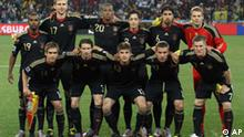 FILE - In this June 23, 2010, file photo, Germany's starting 11 players posing for a team photo prior to the World Cup group D soccer match between Ghana and Germany at Soccer City in Johannesburg, South Africa. Back row from left: Cacau, Per Mertesacker, Jerome Boateng, Mesut Oezil, Sami Khedira, and goalkeeper Manuel Neuer. Front row from left: Philipp Lahm, Arne Friedrich, Thomas Mueller, Lukas Podolski and Bastian Schweinsteiger. t's a paradox rooted in Europe's multicultural world: Immigrants are rallying around Germany's strikingly diverse football team that includes players with roots in Turkey, Ghana, Poland, Tunisia, and other countries. But even 65 years after the end of World War II, some Germans are still adamantly against any expression of national pride and feel uneasy about cheering Deutschland, Deutschland during a World Cup match.(AP Photo/Ivan Sekretarev, File)