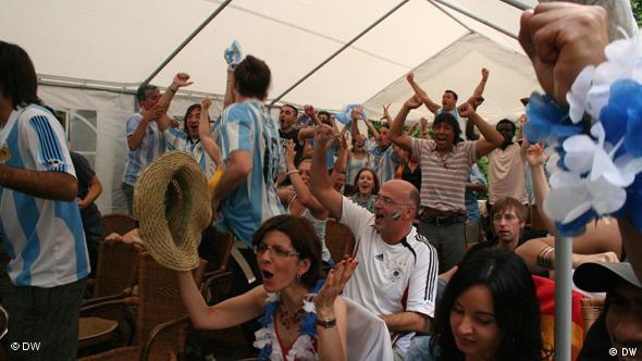 WM 2010 Spiel Deutschland gegen Argentinien