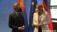 EU Ministerin Jadranka Joksimovic und Staatsministar Michael Roth
