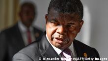 Angola's President Joao Lourenco arrives to attend an Angola-Russia business forum in Moscow on april 3, 2019. (Photo by Alexander NEMENOV / AFP) (Photo credit should read ALEXANDER NEMENOV/AFP via Getty Images)