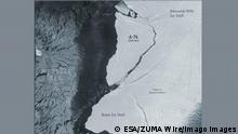 May 19, 2021 - Antarctica - FILE: A giant iceberg, approximately 1.5 times the size of Greater Paris, broke off from the northern section of Antarctica s Brunt Ice Shelf on Friday 26th February. New radar images, captured by the Copernicus Sentinel-1 mission, show the 1270 sq km iceberg breaking free and moving away rapidly from the floating ice shelf. Antarctica - ZUMAz03_ 20210519_sso_z03_863 Copyright: xESAx