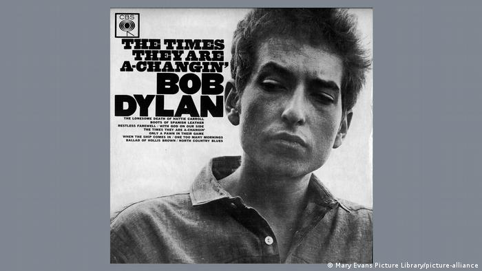 Capa do álbum The times they are a-changin', de Bob Dylan