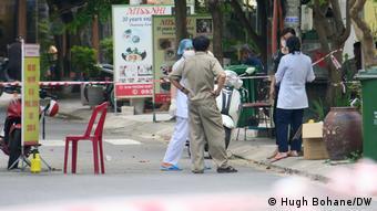 Health workers at a Da Nang hotel