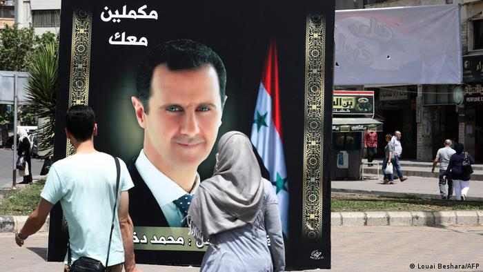 Plakat Bashar al-Assad terpampang di berbagai tempat menjelang pemilihan umum, 24 Mei 2021