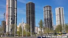 Nicht zu Ende gebaute Wohnhäuser in Kiew Olha Zhuravlova, DW, Mai 2021