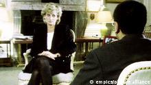 Großbritannien Lady Diana bei einem TV-Interview