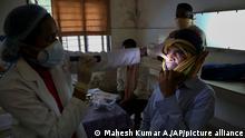 Indien Patient mit Corona-Infektion und zusätzlicher Pilzinfektion Black Fungus