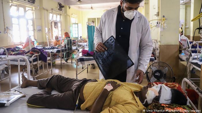 بیمارستانی در جبلپور در هند - بیمار مبتلا به کووید و قارچ سیاه