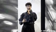 20.5.2021, Rotterdam, Niederlande, Das Foto darf auf DW-Seiten mit der Copyright-Hinweis EBU/A. Putting veröffentlicht werden. Thema: Schweiz bei der Eurovision Gjon's Tears - Teilnehmer aus der Schweiz beim ESC 2021 in Rotterdam, Song Contest 2021 in Rotterdam.
