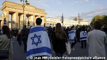 Kundgebung zur Solidarität mit Israel am Brandenburger Tor. Berlin, 20.05.2021