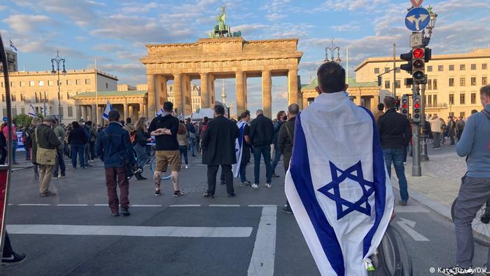 Демонстрация в поддержку Израиля в Берлине, 20 мая 2021 года