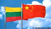Litauen China Flaggen