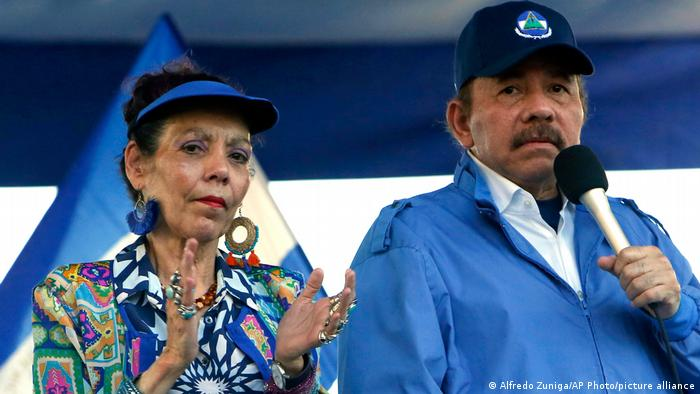 Nicaragua Präsident Daniel Ortega und Vizepräsidentin Rosario Murillo