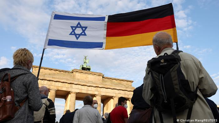 Rally in Germany in solidarity with Israel and against antisemitism in Berlin.