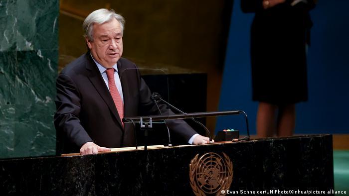 UN-Generalsekretär António Guterres rief die Weltgemeinschaft dazu auf, zügig ein Hilfspaket zu schnüren
