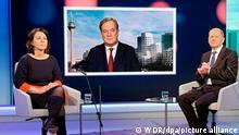Diskussionsrunde Kanzlerkandidaten im WDR | Baerbock, Laschet und Scholz