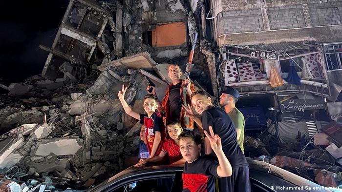 Gaza   Palästinenser feiern Waffenruhe zwischen Israel und der Hamas