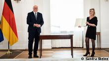 21.05.2021 Einbügerungsfeier beim Bundespräsident Frank-Walter Steinmeier von Frau Burgard