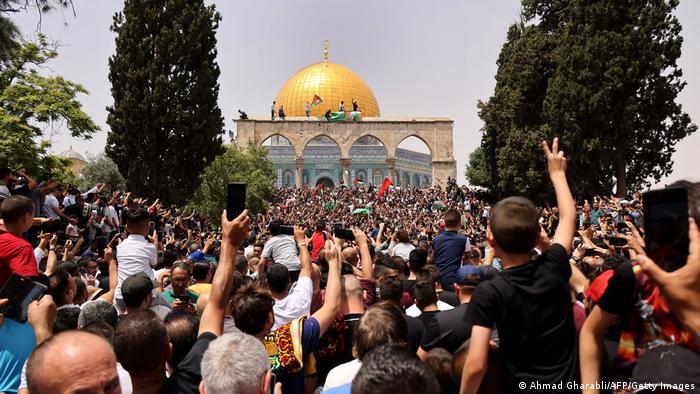 تظاهرات روز جمعه ۲۱ ماه مه فلسطینیان در پیرامون مسجد الاقصی