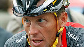 Lance Armstrong during the 2010 Tour de France