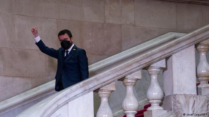 Amtseinführung des neuen Präsidenten von Katalonien Pere Aragones