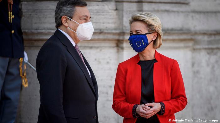 Rom Weltgesundheitsgipfel G20 Mario Draghi und Ursula von der Leyen