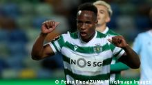 May 1, 2021, Lisbon, Portugal: Jovane Cabral of Sporting CP celebrates after scoring a goal during the Portuguese League football match between Sporting CP and CD Nacional at Jose Alvalade stadium in Lisbon, Portugal on May 1, 2021. Lisbon Portugal - ZUMAf123 20210501_zap_f123_015 Copyright: xPedroxFiuzax