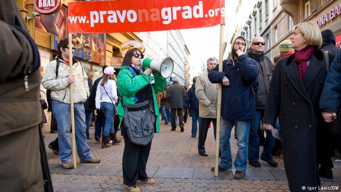 Prosvjedi organizacije Pravo na grad u Zagrebu