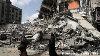 11 gün süren çatışmalarda Gazze'de pek çok konut enkaza döndü