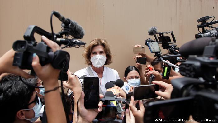Cristiana Chamorro, principal rival de Ortega en las elecciones.