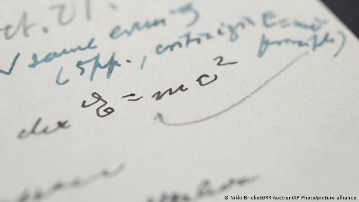 Destaque da carta de Einstein