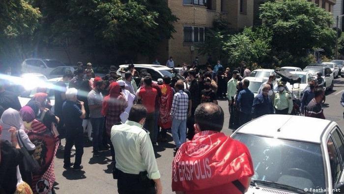 تجمع طرفداران پرسپولیس در تهران