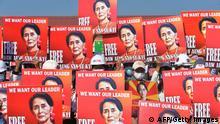 Myanmar Protest Demonstration Aung San Suu Kyi