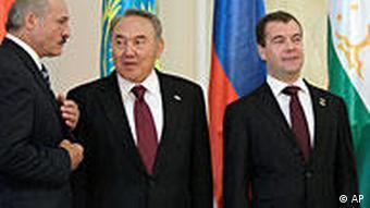 Президенты трех постсоветских стран, образовавших Таможенный союз