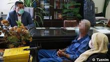 Straftäter Akbar Khoramdin (Der 80 Jährige Akbar Khoramdin bringt mit Hilfe seiner Frau im Laufe von 10 Jahren der Schwiegersohn, die Tochter und der 47 Jährige Sohn Babak Khoramdin um, zerstückelt die Leichen und schmeißt im Mülleimer.) Quelle: Tasnim