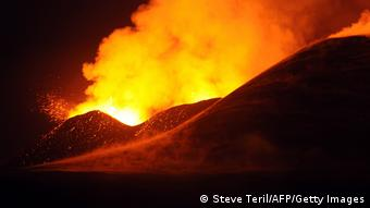 DR Kongo Ausbrauch Nyamulagira Vulkan