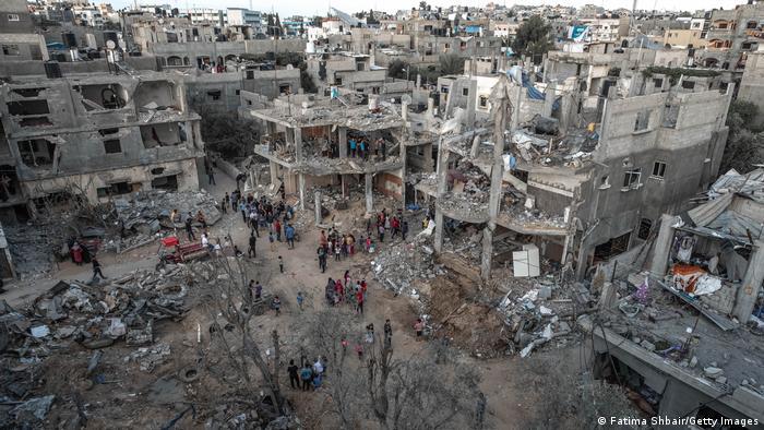 Palästina   Zerstörtes Gebäude in Gaza