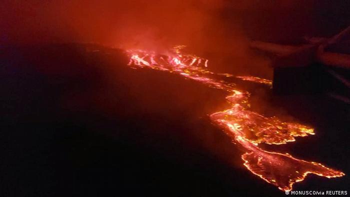 Afrika Kongo Vulkanausbruch