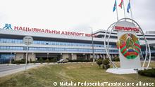 ARCHIV 2020 *** MOSCOW, RUSSIA - MARCH 17, 2020: A view of the Minsk National Airport building. Natalia Fedosenko/TASS