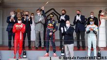 Formel 1 Monaco Grand Prix | Siegerehrung Sainz Verstappen und Norris
