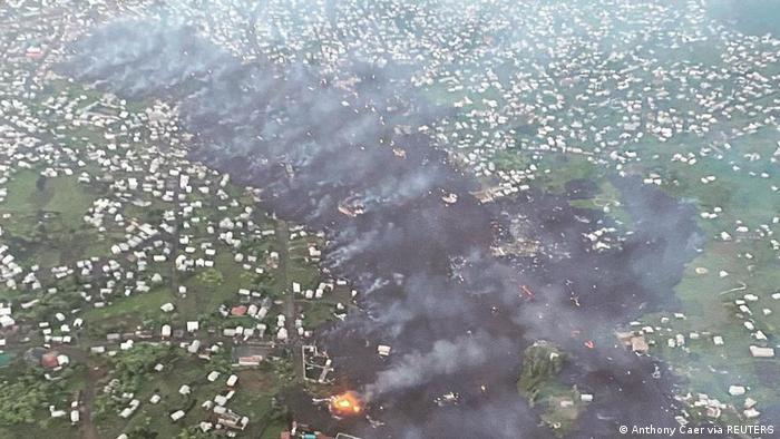 Kongo Mount Nyiragongo Vulkanausbruch