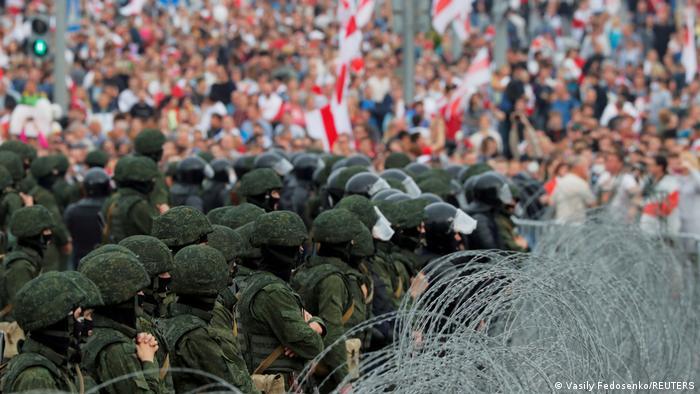 Proteste la Minsk, august 2020
