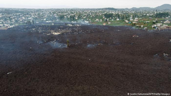 Kongo Goma Mount Nyiragongo Vulkanausbruch Lava