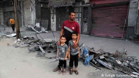 Gaza - Israel Konflikt   Waffenstillstand   Bilder der Zerstörung in Gaza