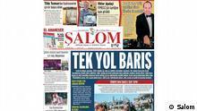Screenshot Hauptseite der Zeitung Şalom