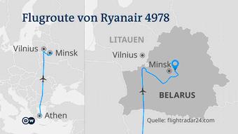 Infografik Karte Flugroute von Ryanair 4978 DE