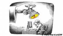 Karikatur der Woche   Niederlage der Schachspieler
