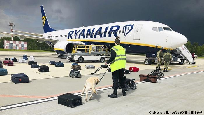 Самолет Ryanair после принудительной посадки в Минске